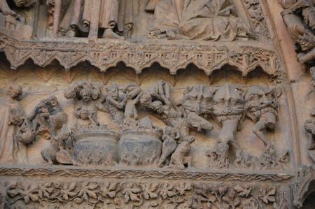 Portada de la Virgen Blanca en la Catedral de Leon