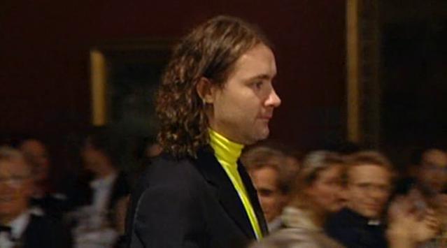 Damien Hirst recibiendo el premio Turner