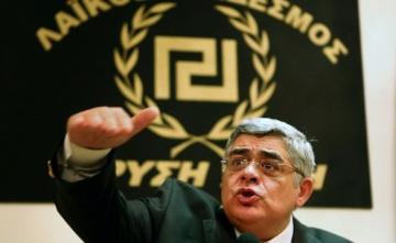 Nikolaos Mihaloliakos. Líder de Amanecer Dorado, el partido neonazi griego.