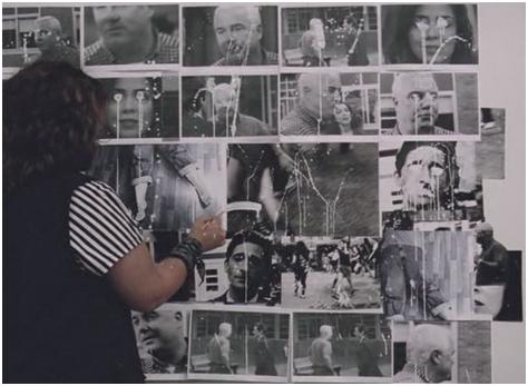 La técnica del collage retrata la idea del mundo que se extrae del filme.