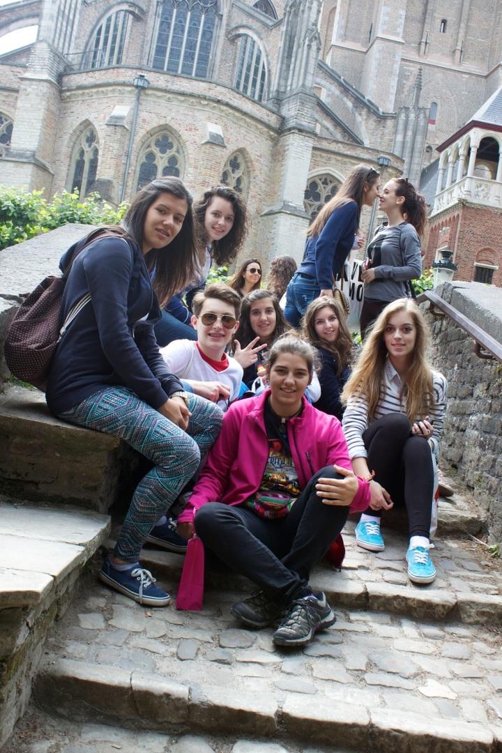 Alumnos del IES Valle del Jerte en Brujas, verano de 2013