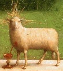 Van Eyck: La adoración del cordero místico (detalle)