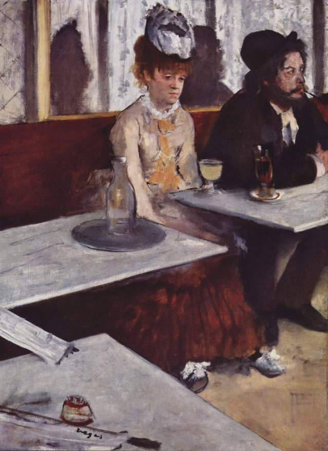 Degas: L'Absinthe, 1876, Museo D'Orsay.
