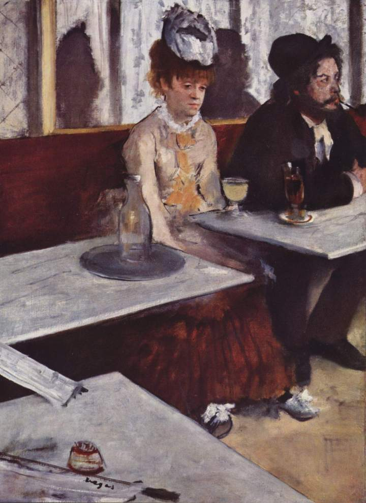 Degas: L'Absinthe, 1876, Museo D'Orsay.