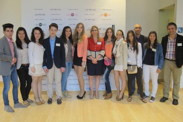 Alumnos del IES Valle del Jerte de Plasencia, ganadores del Premio Día de Europa, asistieron este lunes a l a presentación de la Estrategia ONE, en el Comité de las Regiones.