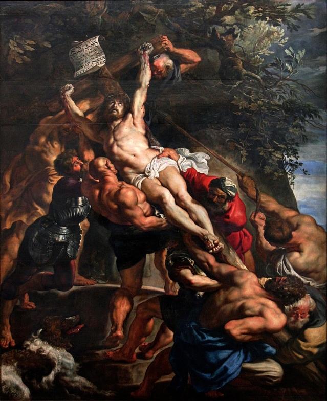 Rubens: La erección de la cruz (1610) Catedral de Amberes