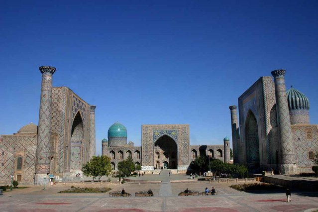 Plaza Registán, Samarcanda, Uzbequistán