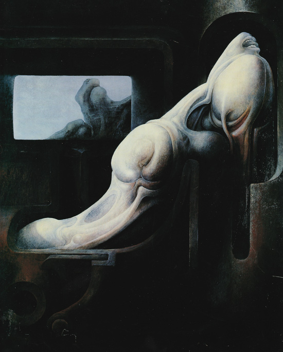 Giger Homage to S. Beckett II, 1968. Oil on wood