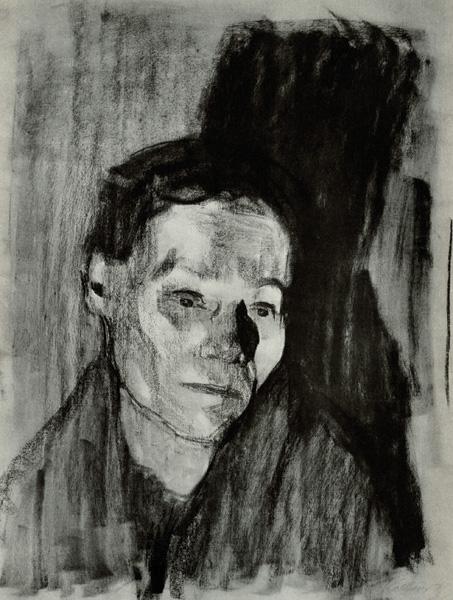 Kathe Kollwitz Self Portrait Charcoal