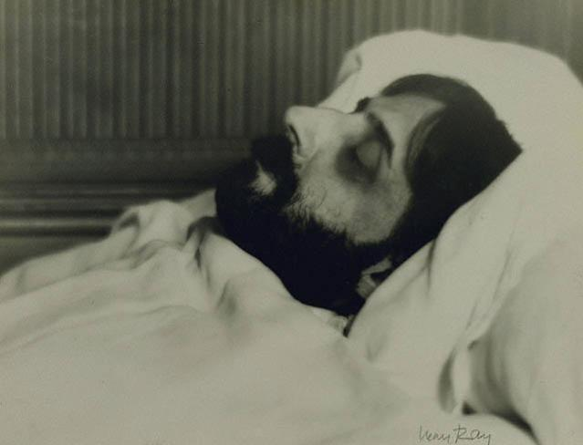 Man Ray, Proust on His Deathbed (1922)