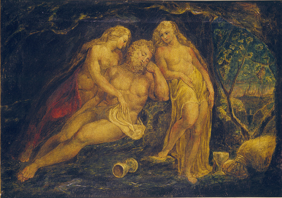 William Blake,  Lot and His Daughters.