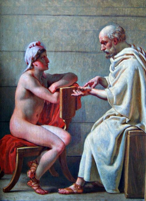 Christoffer Wilhelm Eckersberg, Socrates and Alcibiades, c. 1813-6