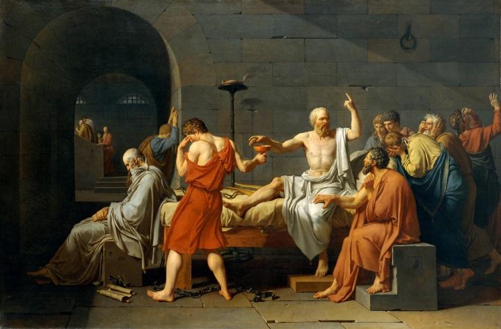 David: La muerte de Sócrates. Metropolitan.