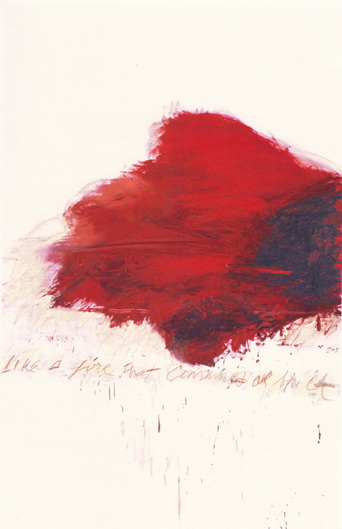 Cy Twombly, The Fire That Consumes All Before It, from the Fifty Days at Iliam series. 1978.