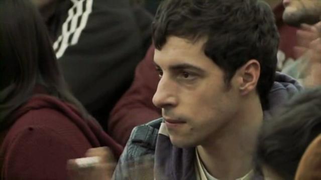 Roque Espinosa, protagonista de El estudiante (S. Mitre, 2011)