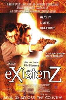 Cartel de eXistenZ (Cronenberg, 1999)