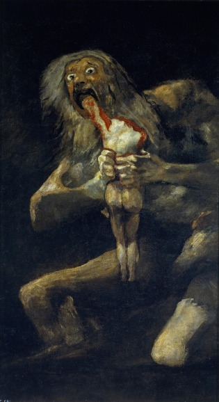 Goya (1819-1823) Saturn devouring his Son