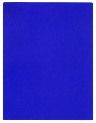IKB 191, monochromatic painting by Yves Klein.