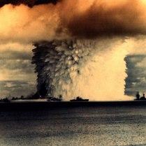 Prueba nuclear en el Pacífico.