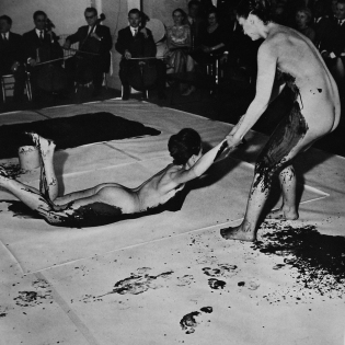 Yves Klein Anthropometries of the blue period. Performance. 1960