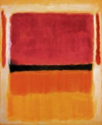 1949 Sin título (Violeta, negro naranja, amarillo sobre blanco y rojo) Guggenheim Museum, Nueva York