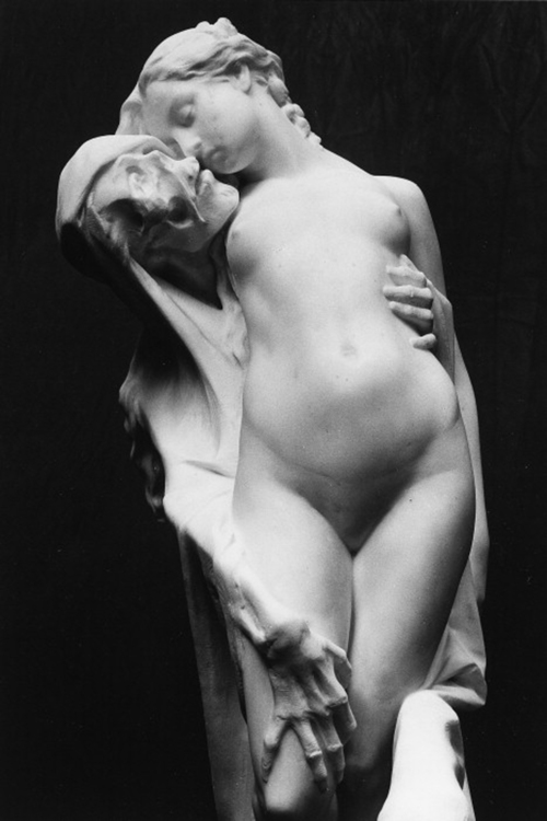 """""""Always and Never"""", also known as """"Death and the Maiden"""", 19th century, Pierre-Eugène-Emile Hébert."""