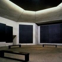 La capilla Rothko, Houston, interior.