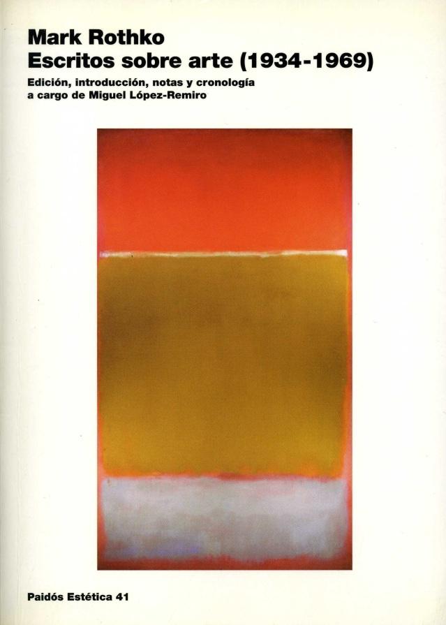 Rothko, escritos sobre arte (1934-1969)