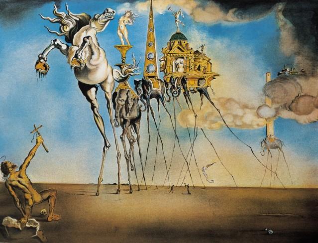 Dalí: La tentación de San Antonio, 1946, Bruselas, Musée Royaux des Beaux-Arts