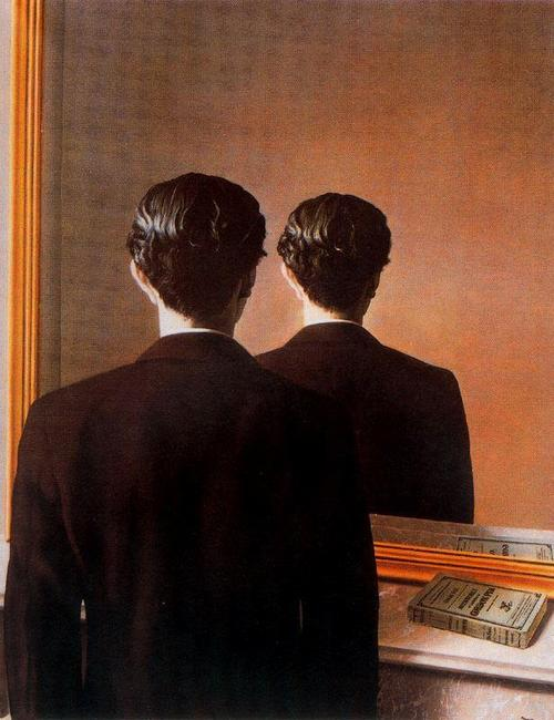 René Magritte , La reproduction interdite (