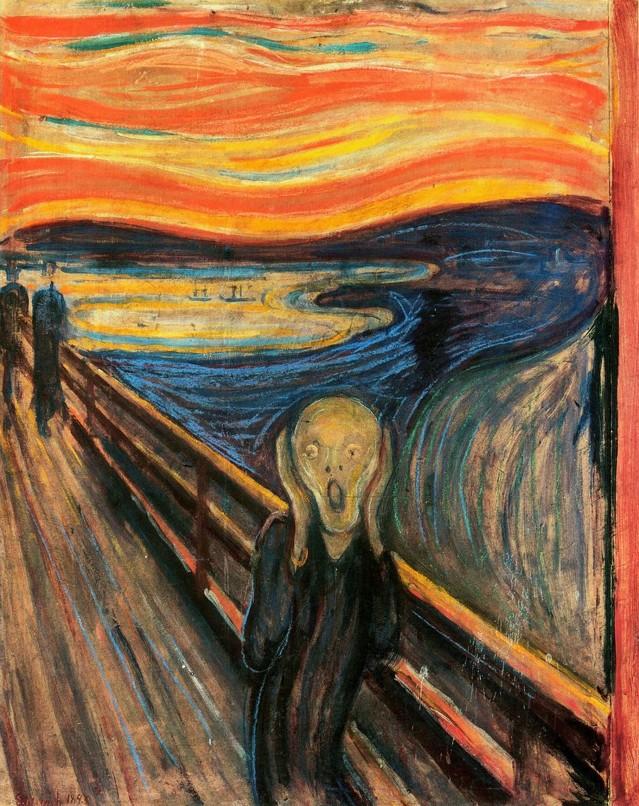 Eduard Munch: El grito (1893). National Gallery, Oslo, Norway