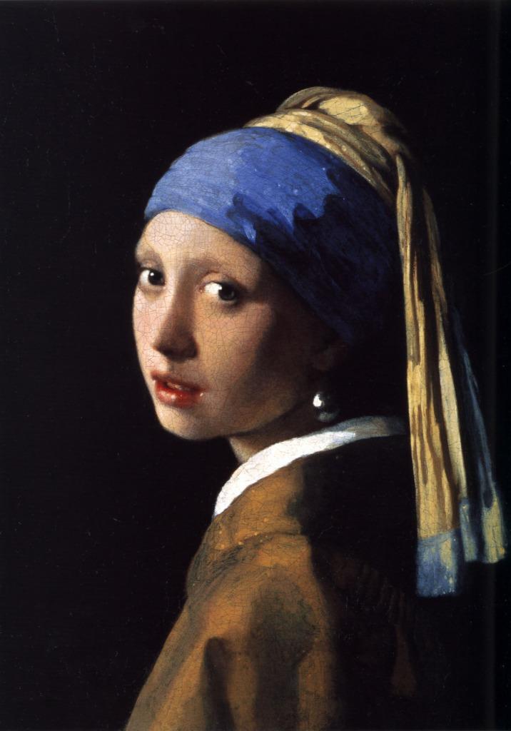 La joven de la perla o Muchacha con turbante (Het meisje met de parel) Johannes Vermeer, h. 1665-1667 Óleo sobre tela Mauritshuis, La Haya,