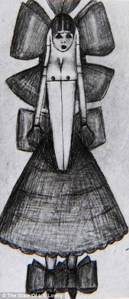 Drawing of Carol found after Lowry's death (1)