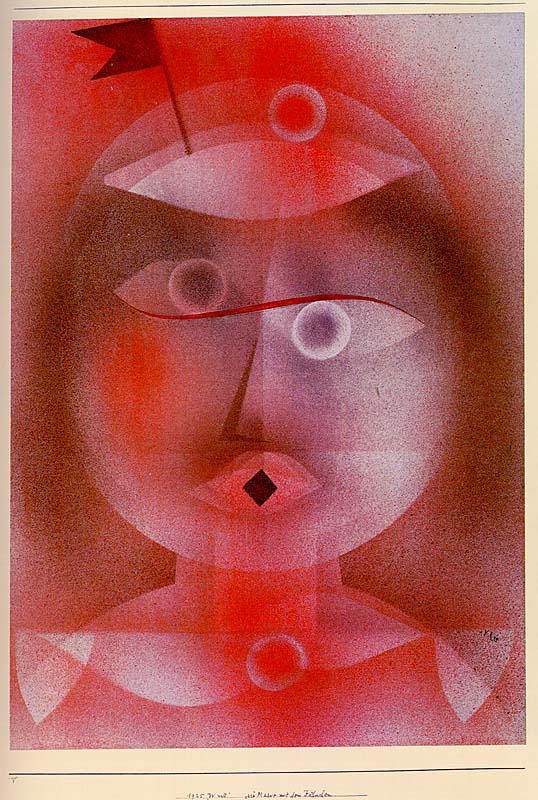 Paul Klee - The Mask with the Little Flag, 1925
