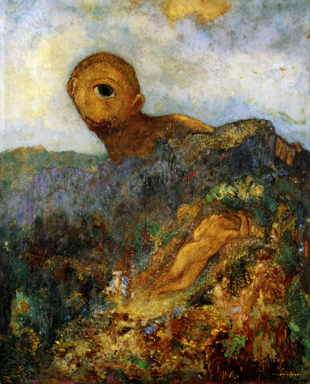 Odilon Redon, Cyclops (1898, oil on canvas, Kröller-Müller Museum, Otterlo, Netherlands)