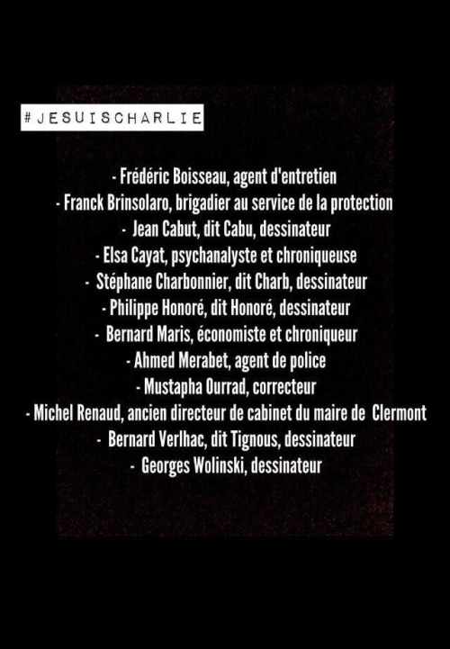 Charlie Hebdo RIP 2015