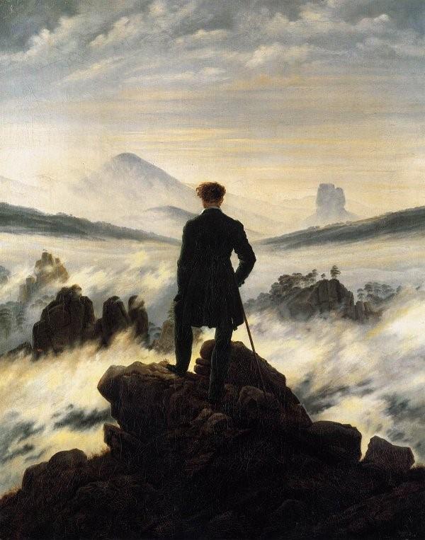Caspar David Friedrich caminante sobre el mar de nubes (1818)El artista es el que se eleva por encima de las nieblas del deseo, lo suprime y contempla las cosas en sí mismas con claridad.