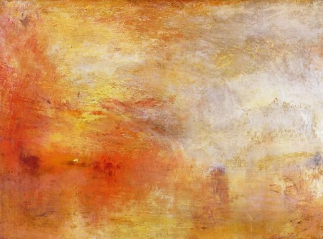Joseph Turner: Puesta de sol sobre un lago (1849)
