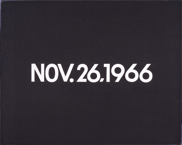 On Kawara, TODAY Series No. 217, NOV. 26, 1966.