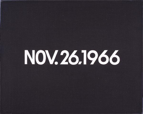 On Kawara, TODAY Series No. 217, NOV. 26, 1966.