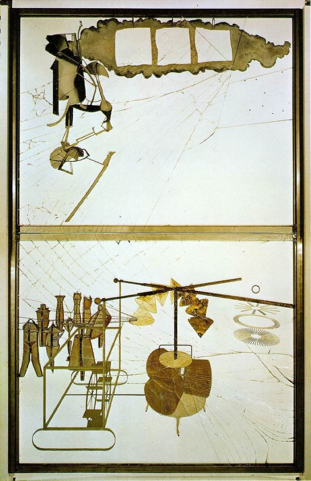 Marcel Duchamp: La Mariée mise à nu par ses célibataires, même (Le Grand Verre) (1915-1923)