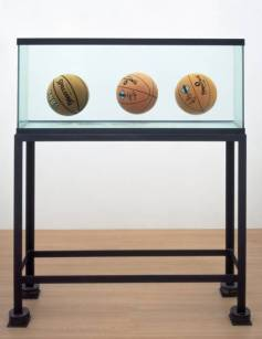 Jeff Koons: Three Ball Total Equilibrium Tank (Two Dr J Silver Series, Spalding NBA Tip-Off) 1985 http://www.tate.org.uk/art/work/T06991