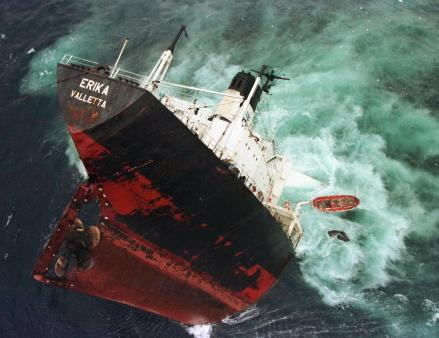 Erika sank off the coast of France in 1975