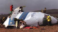 Wreckage of Pan Am Flight 103 in Lockerbie, 1988