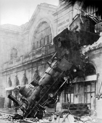 Train wreck at Montparnasse, 1895