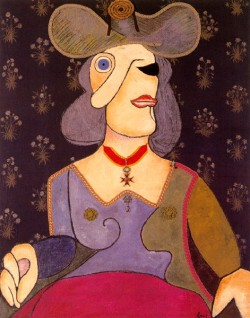 Enrico Baj: Bust of a Woman with Hat