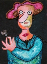 Enrico Baj: Jeune fille en fleur (1979)