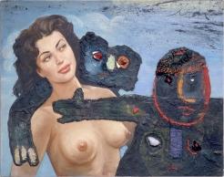 Enrico Baj: Des etres d'autres planets violaient nos femmes (1959)