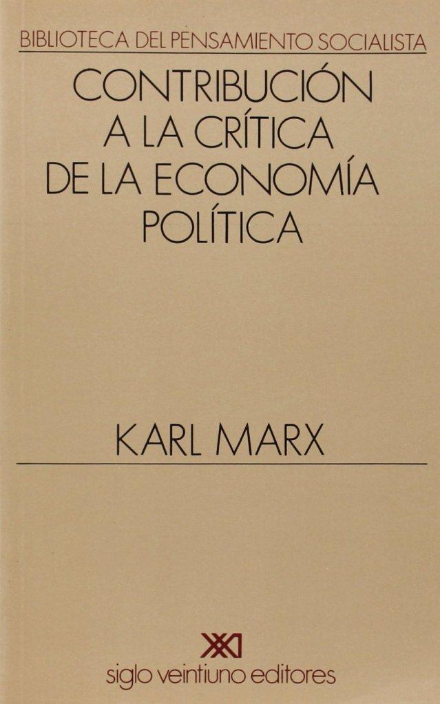 Marx contribución a la crítica
